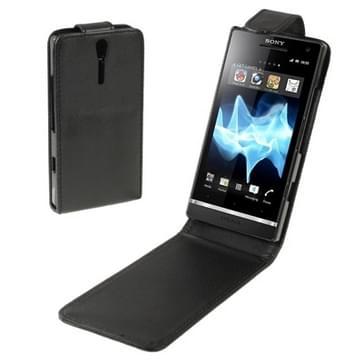 hoge kwaliteit lederen hoesje voor Sony Xperia S / LT26i(zwart)