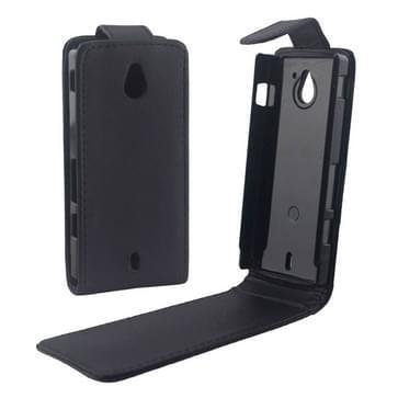 Vertical Flip lederen hoesje voor Sony MT27i / Xperia Sola(zwart)