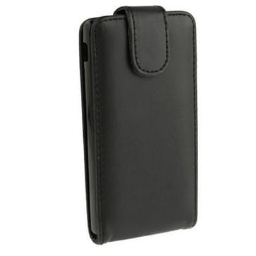 Pure Kleur Vertical Flip lederen hoesje voor Sony Xperia SP / M35h (zwart)
