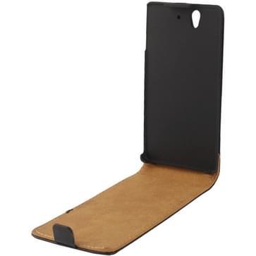 Vertical Flip lederen hoesje voor Sony Xperia Z / L36h / Yuga C6603   (zwart)