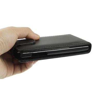Vertical Flip Hoesje voor LG Optimus L5 (zwart)