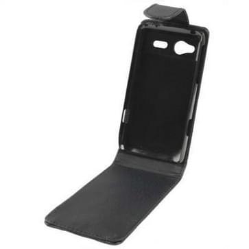 lederen hoesje voor HTC C110e Radar