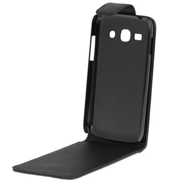 Vertical Flip Leather Case for Galaxy Ace 3 / S7272(Black)