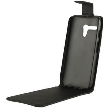 Vertical Flip lederen hoesje voor MOTO G (zwart)
