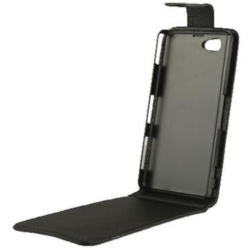 Vertical Flip lederen hoesje voor Sony Xperia Z1 mini / M51w / D5503 / Xperia Z1 Compact (zwart)