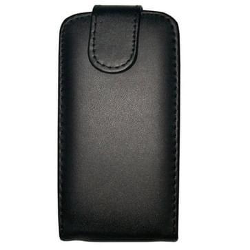 verticaal flip magnetische Snap lederen hoesje voor Nokia Lumia 610(zwart)