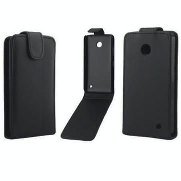 verticaal flip magnetische Snap lederen hoesje voor Nokia Lumia 630(zwart)