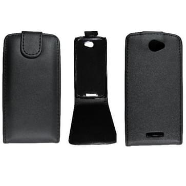 verticaal flip magnetische Snap lederen hoesje voor HTC One S / Z520e(zwart)