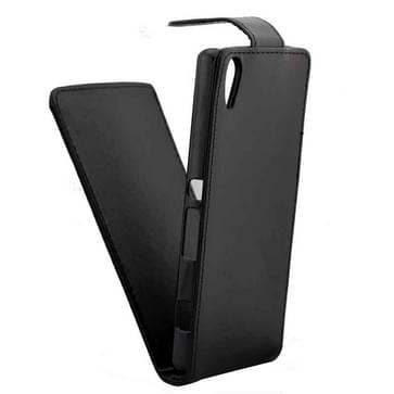 Verticale Flip hoes met magnetische sluiting lederen hoesje voor Sony Xperia Z4