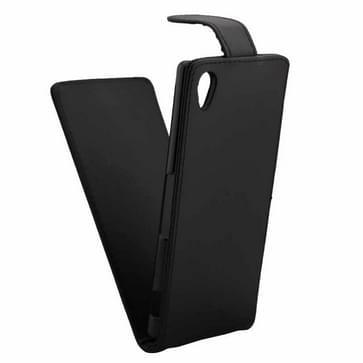 Verticale Flip hoes met magnetische sluiting lederen hoesje voor Sony Xperia M4 Aqua