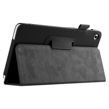Huawei MediaPad M1 / S8-301W horizontaal Litchi structuur PU leren Flip Hoesje met houder (zwart)