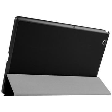 Sony Xperia Z4 Tablet horizontaal PU leren Flip Hoesje met drievouws houder (zwart)