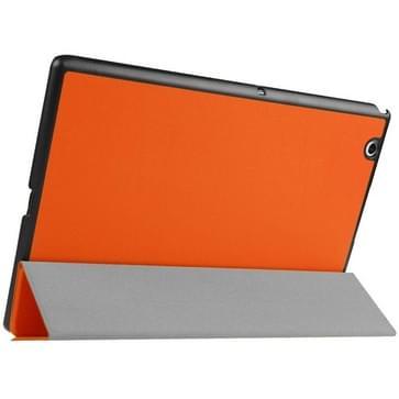 Sony Xperia Z4 Tablet horizontaal PU leren Flip Hoesje met drievouws houder (Oranje)