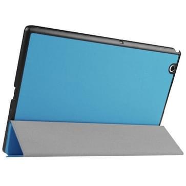 Sony Xperia Z4 Tablet horizontaal PU leren Flip Hoesje met drievouws houder (blauw)