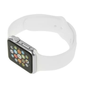 Hoge kwaliteit kleur scherm niet-werkende Fake Dummy  metalen materiële Display Model voor de Apple Watch 42mm(White)