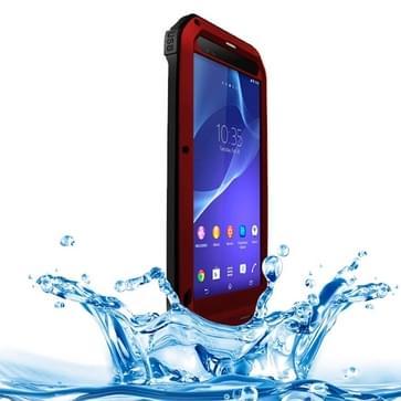 LOVE MEI Metal ultra dun regen bestendig + Dropproof + Shockproof + Stofdicht beschermings hoesje voor Sony Xperia T2 Ultra(rood)