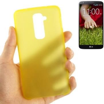 LG Optimus G2 / D802 ultra-dun 0.3mm transparant Polycarbonaat Kunststof back cover Hoesje (geel)