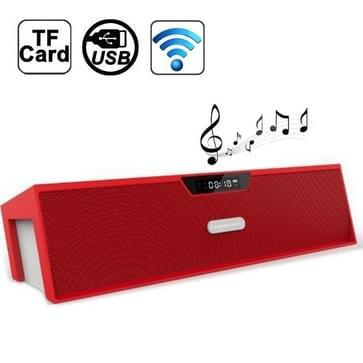 Nizhi Sardine beste HIFI bluetooth Stereo Speaker met FM Radio versterker Micro SD TF kaart  SDY-019(rood)