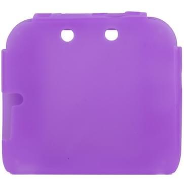 Zuivere Kleur ultra dun siliconen hoesje voor Nintendo 2DS (paars)