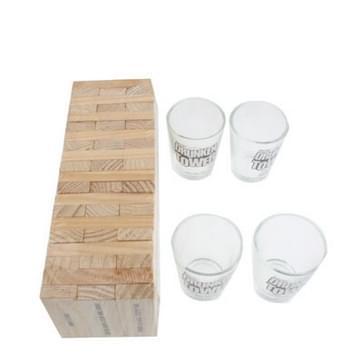 4 glazen voldaan drinken spel aangeschoten toren Blok gebouw Shot glas leuk voor volwassene