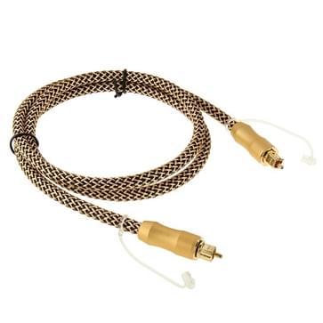 Digitale Audio Optische Fiber Kabel Toslink mannetje naar mannetje  Lengte: 1 meter  OD:6.0mm
