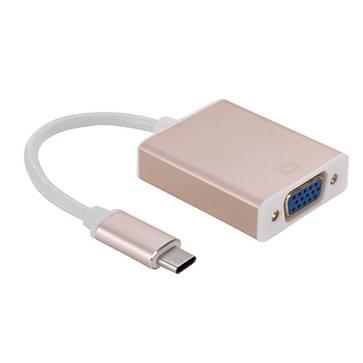 USB 3.1 Type-C naar VGA-beeldschermadapter multi Kabel  Kabel lengte: over 10cm(Gold)