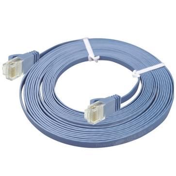 CAT6 ultra dun plat Ethernet netwerk LAN Kabel, Lengte: 50m(blauw)