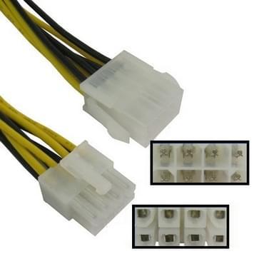 8 Pin mannetje naar 8 pin vrouwtje Power verleng kabel, Lengte: 26.5cm