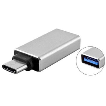USB 3.0 naar USB 3.1 Type-C Converter Adapter voor MacBook 12 inch  Chromebook Pixel 2015 (zilverkleurig)
