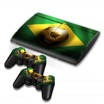 Brazil Vlag patroon Stickers voor PS3 Game Console