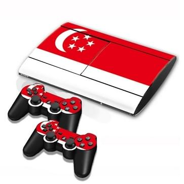 Singapore Vlag patroon Stickers voor PS3 Game Console