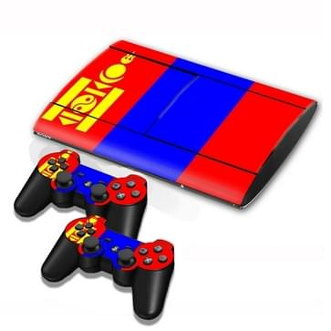Mongolian Vlag patroon Stickers voor PS3 Game Console