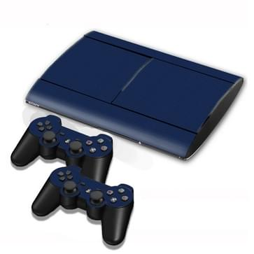 Carbon Fiber structuur Stickers voor PS3 Game Console(donker blauw)