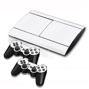 Carbon Fiber Texture Decal Stickers for PS3 Game Console(White)