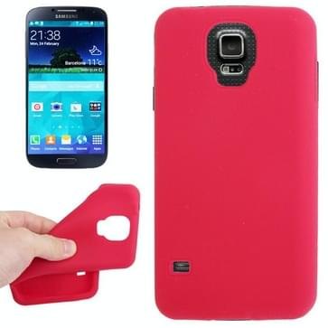 Anti-kras Silicon hoesje voor Samsung Galaxy S V / S5 / G900 (rood)