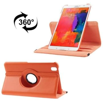 360 Degree Rotatable Litchi Texture Leather Case with 2-angle Viewing Holder for Galaxy Tab Pro 8.4 / T320(Orange)
