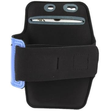 universeel PU Sports Armband hoesje met Koptelefoon Hole voor Samsung Galaxy Note 4 / N910 / Note III / N9000 / II / N7100 / i9220 / N7000 /  N7005 / Sony Z2 / Z1 (blauw)