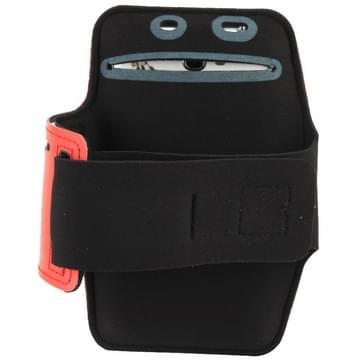 universeel PU Sports Armband hoesje met Koptelefoon Hole voor Samsung Galaxy Note 4 / N910 / Note III / N9000 / II / N7100 / i9220 / N7000 /  N7005 / Sony Z2 / Z1(rood)
