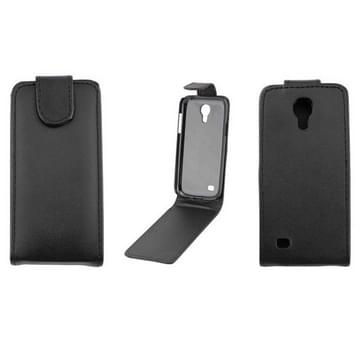 Samsung Galaxy S IV mini / i9190 vertikaal PU leren Flip Hoesje(zwart)