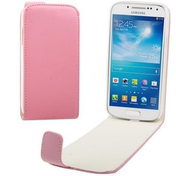 Vertical Flip lederen hoesje voor Samsung Galaxy S IV mini / i9190  (roze)