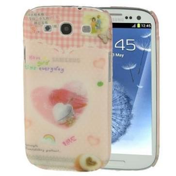 hoge-quality Embossed Feel Emily Elizabeth Jewelry patroon Anti-kras Plastic beschermend hoesje voor Samsung Galaxy S III / i9300