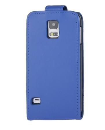 Vertical Flip lederen hoesje met opbergruimte voor pinpassen opberg vakje voor Samsung Galaxy S5 / G900(blauw)