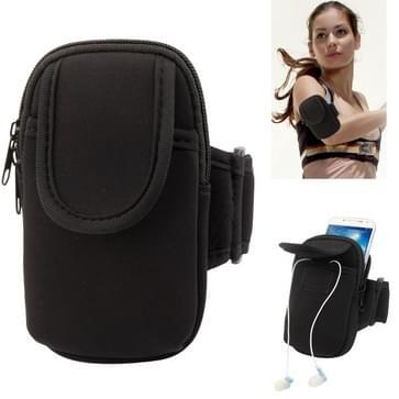 Thicken Nylon Fabric Double Layers Sports Armband hoesje voor Samsung Galaxy S IV / i9500 / i9300 / i9190    (zwart)