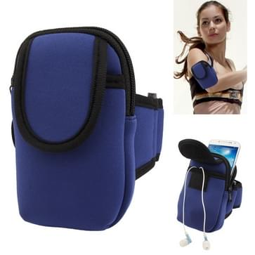 Thicken Nylon Fabric Double Layers Sports Armband Case for Galaxy S IV / i9500 / i9300 / i9190   (Blue)