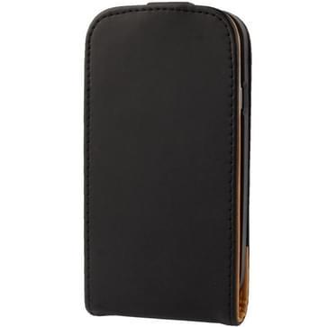 Vertical Flip lederen hoesje voor Samsung Galaxy S III / i9300 (zwart)