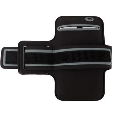 PU Sports Armband hoesje met Koptelefoon Hole voor Samsung Galaxy Mega 6.3 / i9200 (grijs)