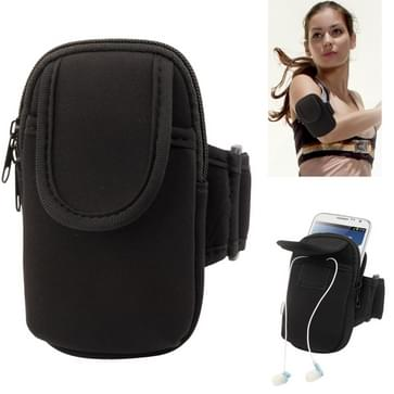 Thicken Nylon Fabric Double Layers Sports Armband hoesje voor Samsung Galaxy Note II / N7100 / i9220  (zwart)