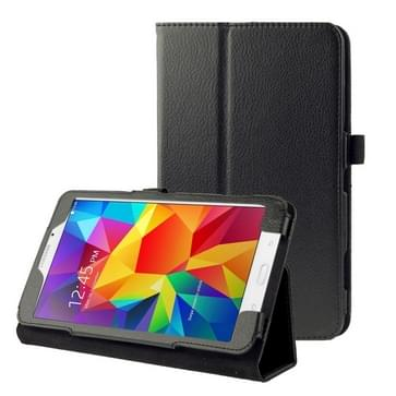 Litchi Texture Flip Leather Case with Holder for Galaxy Tab 4 7.0 / T230 / T231 / T235(Black)