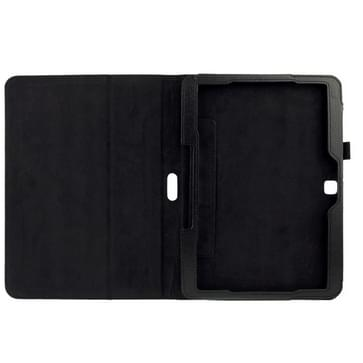 Litchi structuur Flip lederen hoesje met houder voor Samsung Galaxy Tab 4 10.1 / T530 (zwart)