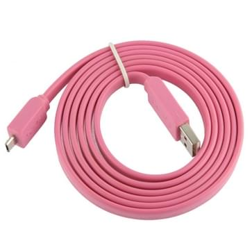 Noodle Style Micro 5 Pin USB Data Transfer / Charge Cable  Suitable for Galaxy S6 / S IV / i9500  HTC One / M7  Nokia Lumia 925 / 920 / 520  LG Optimus G Pro  Length: 1.5m(Pink)